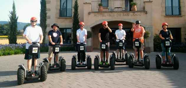 L' Spinreact company has done a Segway tour at their meeting in Garrotxa
