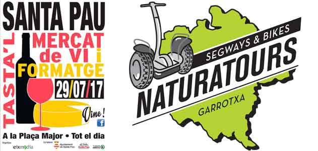 Segway Garrotxa Naturatours market with wine and cheese Santa Pau